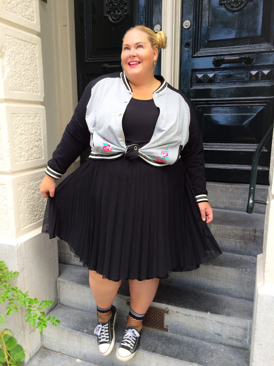 Baseball en Plissé - Plus Size Fashion